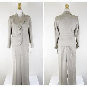 Jones Wear Suit Almond Beige Pant Suit Career NEW